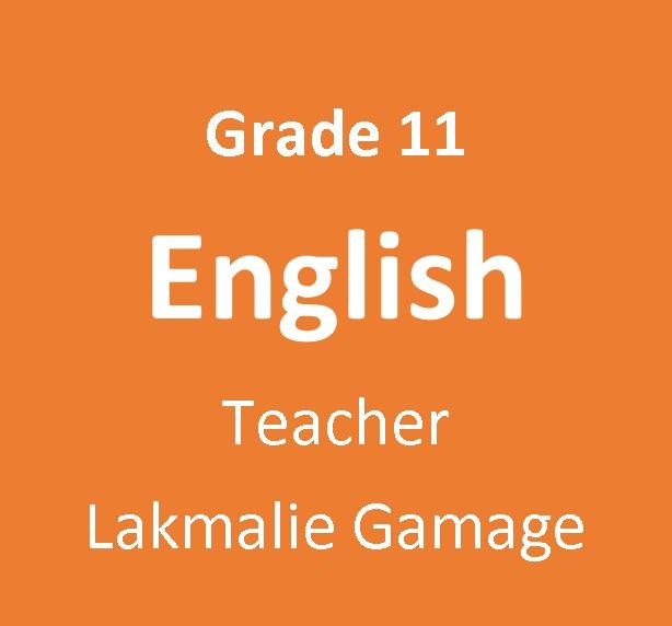 11 ශ්රේණිය English